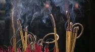 Incense Burning Temple Offering Oriental Buddhist China Shrine Confucian  Stock Footage