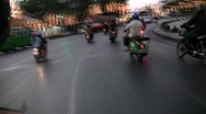 Stock Video Footage of High Speed Motorcycle Taxi Ride