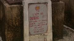 Vietnamese War Dead Graveyard Cemetery Memorial Combat Death Vietnam War Veteran Stock Footage