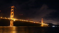 Golden Gate Bridge Night Timelapse - stock footage