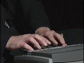 Stock Video Footage of COURT REPORTER Stenographer Typing COURTROOM Legal Law Hands Woman