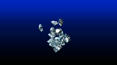 Valentine Heart Composed of Diamonds  - Heart 29 (HD) Stock Footage