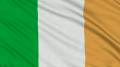 Irish flag, with real structure of a fabric Stock Footage