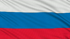 Russian flag, with real structure of a fabric Stock Footage