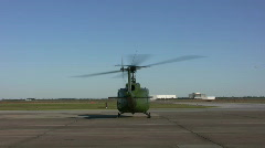 Helicopter with running engine Stock Footage