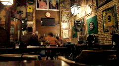 Pub scene - stock footage