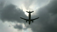 Plane Passes Overhead - stock footage