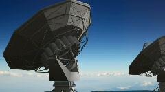 446 Seti dish radar nasa communications - stock footage