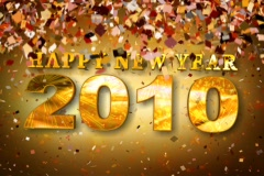 Happy New Year 2010 Stock Footage