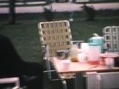 Man Picking His Teeth (1964 - Vintage 8mm film) Stock Footage