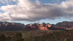 Sedona timelaspe with clouds=vultee arch road Stock Footage