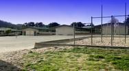 Generic empty schoolyard Stock Footage