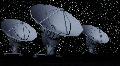 446 seti dish beta space communications night time lapse Footage