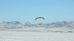 Winter flying PPC touch go P HD 5851 Stock Footage
