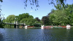 Boston Common Swan Boats 1 - stock footage