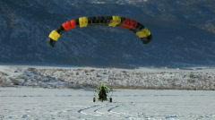 Winter PPC landing P HD 5848 Stock Footage