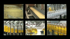 soybean oil manufacturing - stock footage