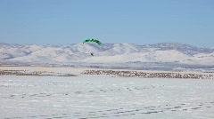 PPC low flight winter Stock Footage