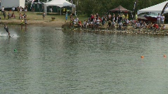 Sports and fitness, water ski competition - #12 Stock Footage