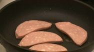 Boiled sausage. Stock Footage