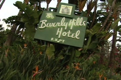 Beverly Hills Hotel sign Stock Footage