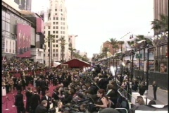 Academy Award crowd B-Roll Stock Footage