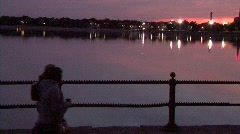 Sunset on Castle Island Stock Footage