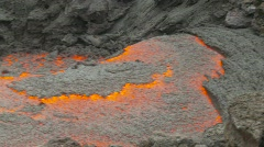 Active lava flow, danger close, #2 Stock Footage
