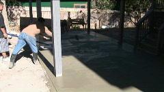 Concrete driveway 6 Stock Footage
