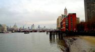 London city urban skyscrapers skyline Stock Footage