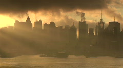 Moody Skyline of New York City Stock Footage