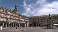 Plaza Major Stock Footage