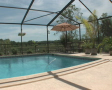 PAL: Residential pool Stock Footage