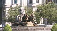 Cibeles, Madrid, Spain Stock Footage