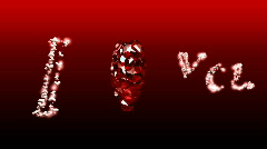 Spinning Diamond Valentine Heart - Heart 30 (HD) Stock Footage
