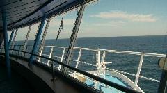 Bridge of ship, open ocean Stock Footage