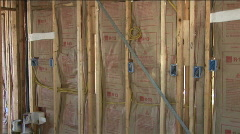 Framing insulation Stock Footage