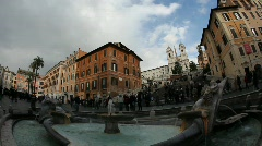 Rome: the Spanish Steps time lapse timelapse Stock Footage