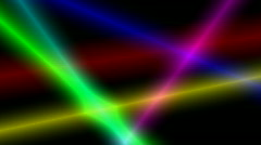 Colored Beams on Black 01 1080p 10s - stock footage