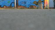 Pedestrian Street Feet Montage Stock Footage