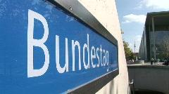 Sign Of Bundestag Station Berlin Germany Stock Footage