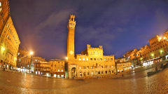 Piazza del Campo time lapse night - stock footage