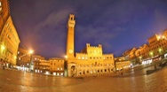 Stock Video Footage of Piazza del Campo time lapse night