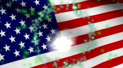 FIREWORKS FLAG USA HD - stock footage