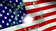 Stock Video Footage of FIREWORKS FLAG USA HD