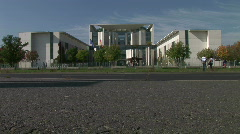 Background Of Federal Chancellery Berlin Germany Stock Footage