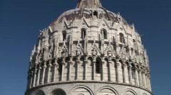 Pan on Piazza dei Miracoli - Torre di Pisa Stock Footage