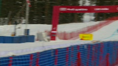 Downhill ski competition Stock Footage