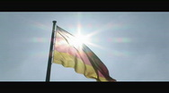 HD1080p German flag on Reichstag Berlin Slow Motion Stock Footage