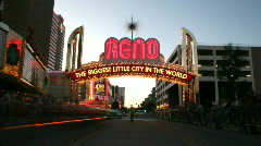 Reno Hot Rod Cruise timelapse HD 04 Stock Footage